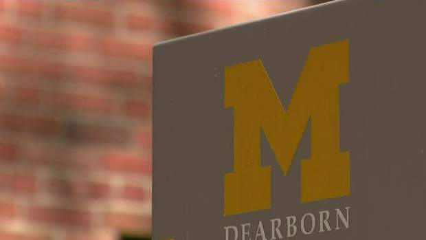 A University of Michigan-Dearborn sign