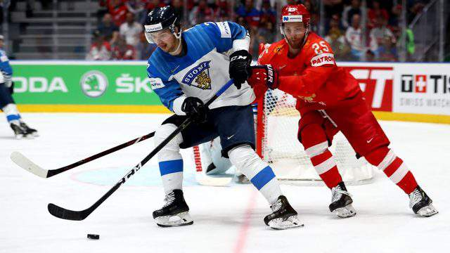 Oliwer Kaski of Finland during the 2019 IIHF Ice Hockey World Championship on May 25, 2019 in Bratislava, Slovakia. (Photo by Martin Rose/Getty Images)