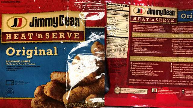 Jimmy Dean sausage links recall