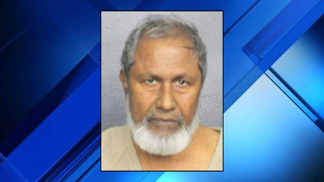Mohammad Munshi, 67, is accused of following a teen girl into a gas station bathroom and attempting to rape her before she stabbed him and fled. (Broward County Sheriff's Office)