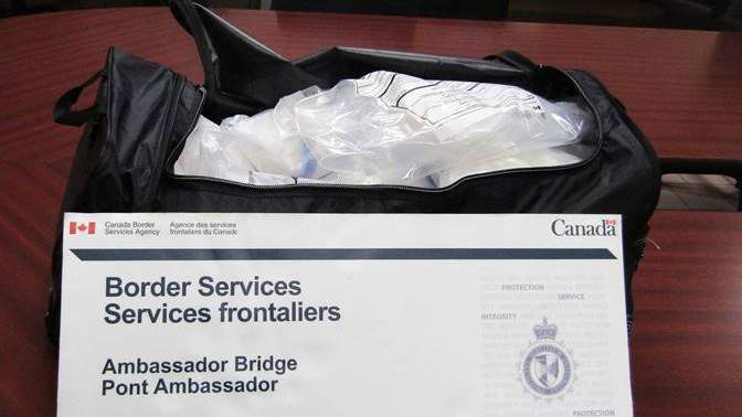 The RCMP & CBSA seize approximately 21 kilograms of suspected methamphetamine at the Ambassador Bridge.