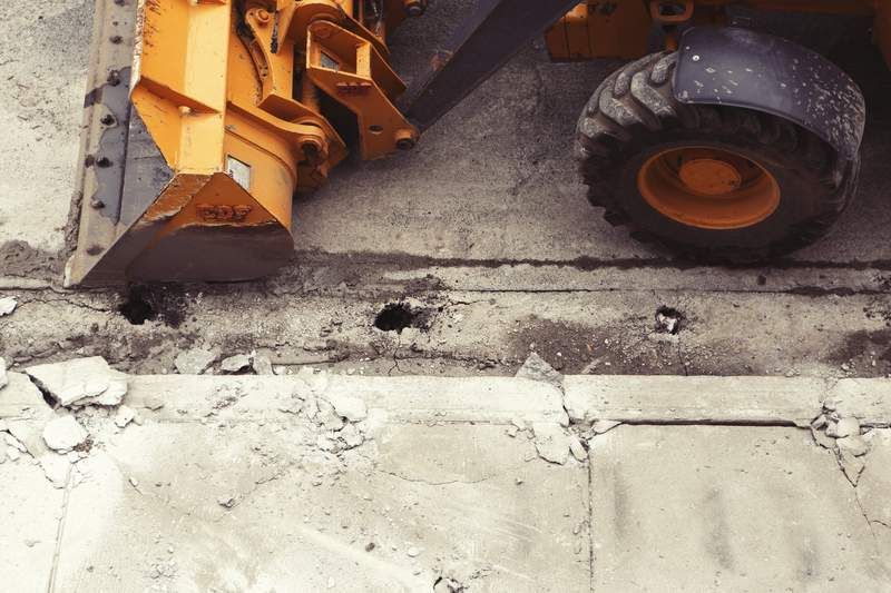 Road construction.