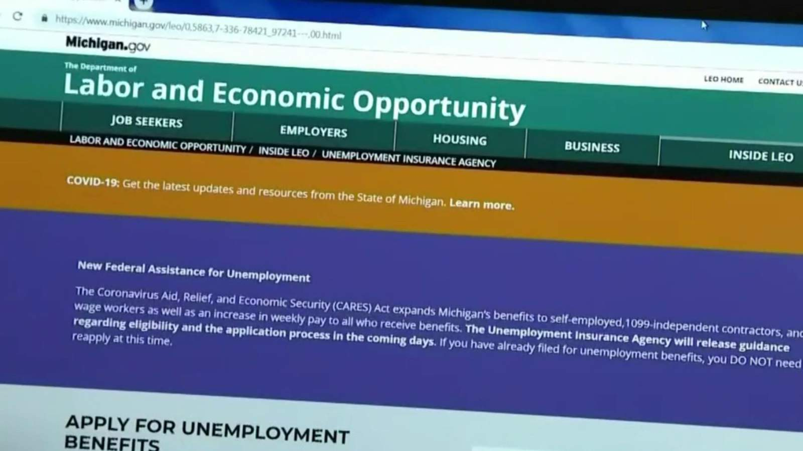 Q A Michigan Unemployment Agency Answers Questions About Issues Applying For Benefits