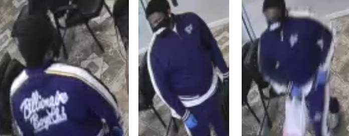 The man wanted for a pharmacy robbery in Hamtramck that happened Wednesday.