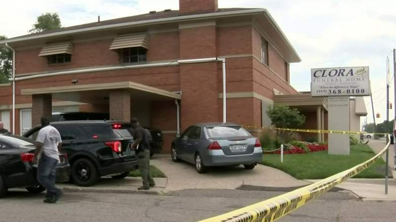 Man killed outside of funeral home on Detroit's west side