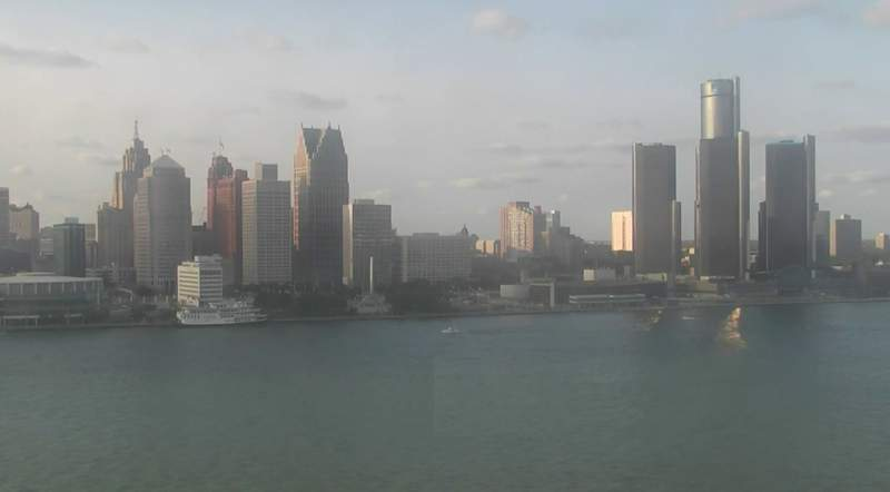 View of Detroit from the Windsor sky camera on Sept. 13, 2020 at 6:30 p.m.