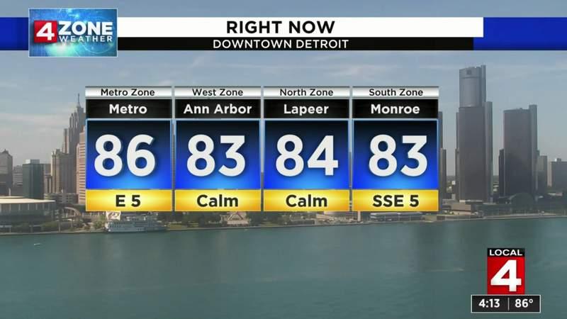 Metro Detroit weather forecast: Hot, warm week ahead