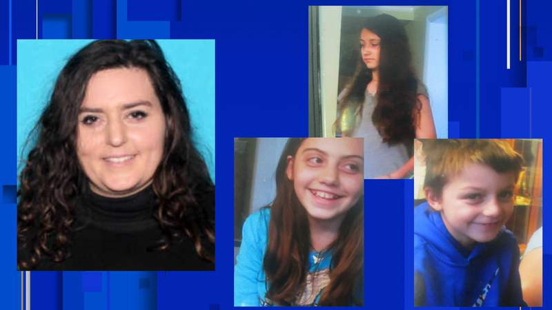 Ruth Ann Amo, Samuel Tenny, 7, Vanessa Tenny, 11, and Bella Tenny, 12.