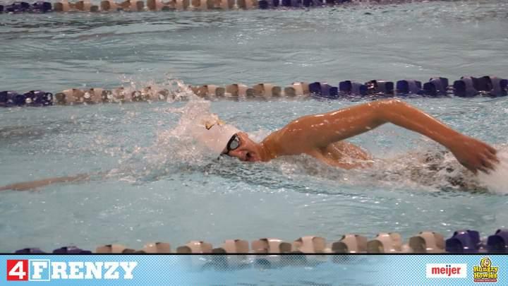 Freshman swimmer, Devin Dilger