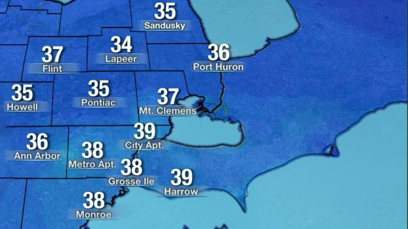 Metro Detroit weather: Windy conditions arrive Palm Sunday and remain chilly, 3/28/21, 11 p.m. update