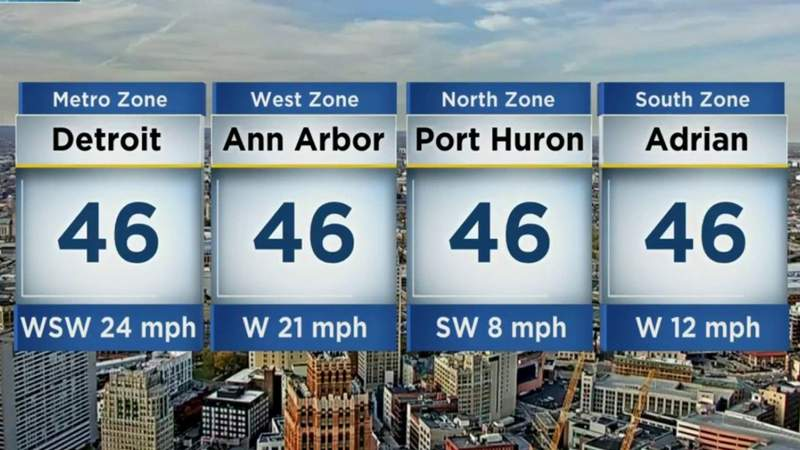 Metro Detroit weather: Chilly Monday afternoon ahead