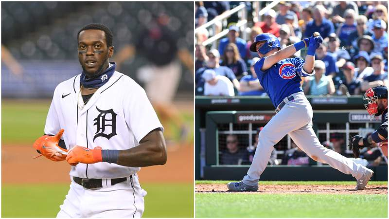 The Detroit Tigers traded OF Cameron Maybin (left) to the Chicago Cubs for prospect Zach Short (right) on Aug. 31, 2020.