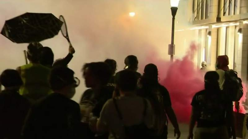 Multiple arrests made during protest of Operation Legend in Downtown Detroit