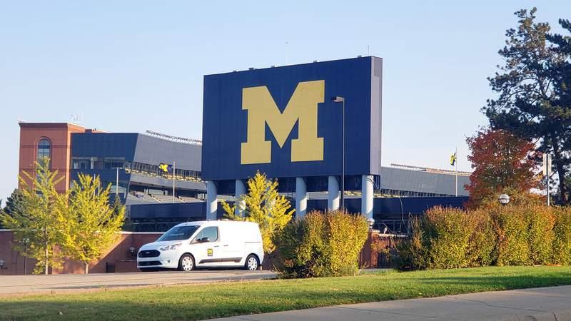 The Michigan Stadium in Ann Arbor, Michigan.