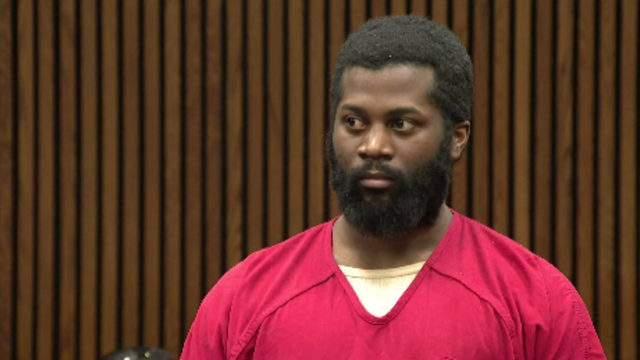Gregory McQueen at his sentencingon May 14, 2019. (WDIV)