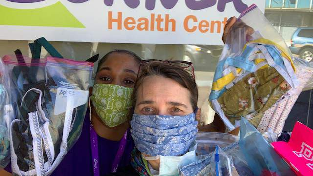 Donated reusable masks have been given to healthcare workers around Ann Arbor.