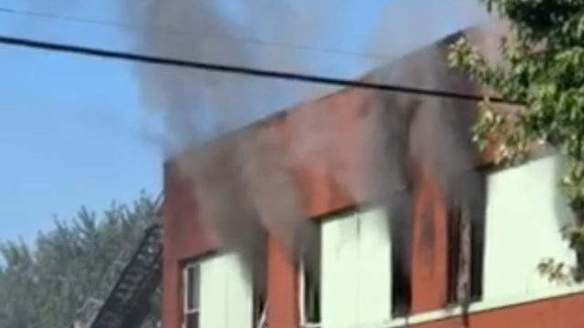 Fire destroys mosque on Detroit's east side. Photo Credit: Diamond & Alexis Germany