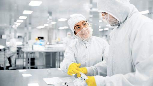 Inside a Sartorius lab.