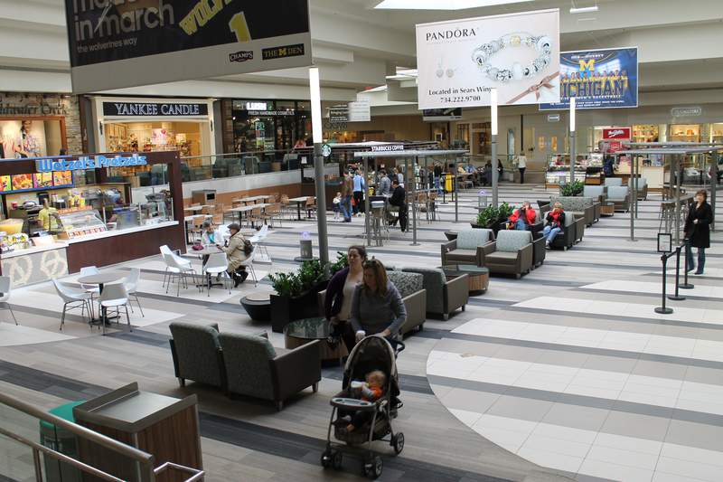 The center court in Briarwood Mall in Ann Arbor, Michigan.