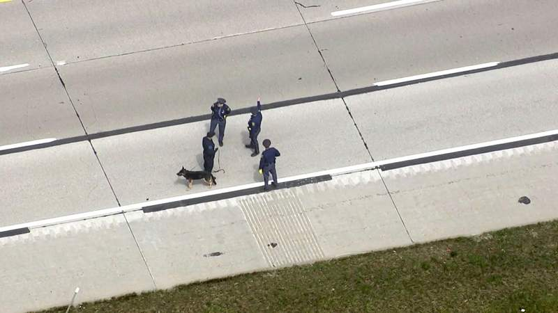 MSP troopers investigating an April 23, 2021 shooting on I-94.