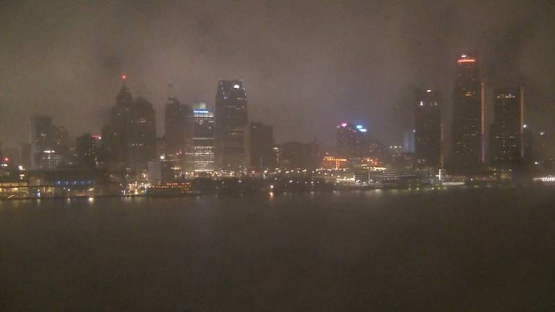 View of Detroit from the Windsor sky camera on Jan. 11, 2020 at 6:45 p.m.