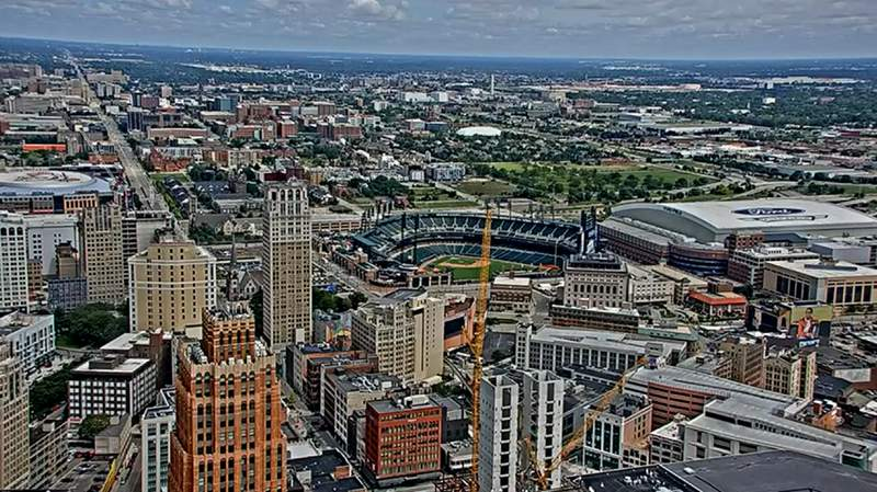 View of Downtown Detroit from atop the Penobscot Building. -- July 9, 2021