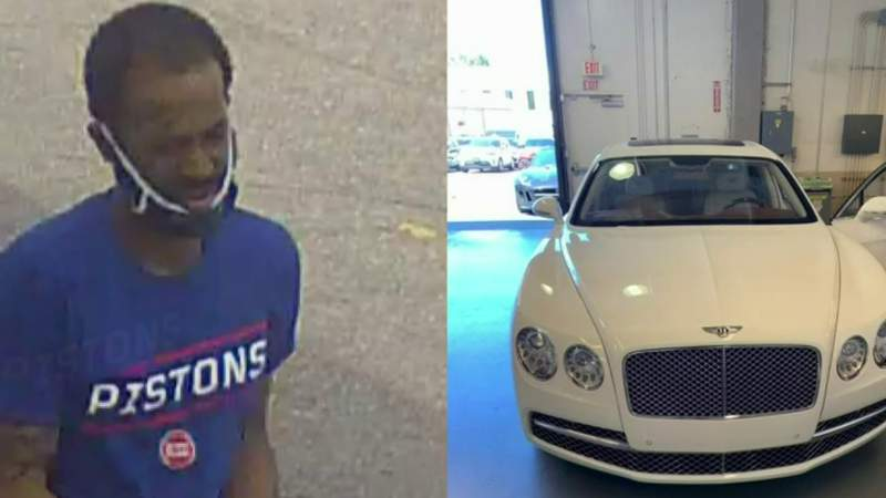 Bentley stolen from Southfield business; Police search for suspect