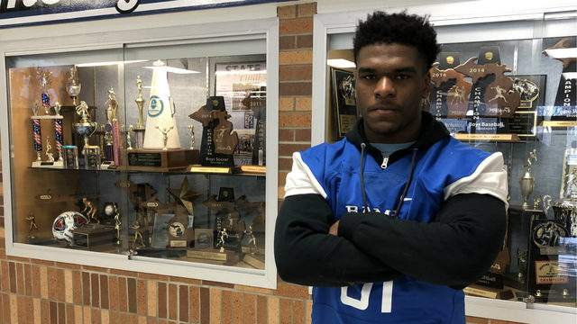 Torohn Yancey of Madison Heights Lamphere High School poses for a photo at the school. Keith Dunlap/GMG