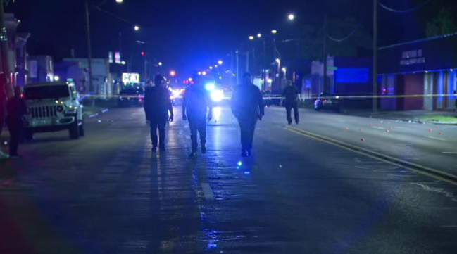 Detroit Police on scene of a shooting that left multiple people hurt.