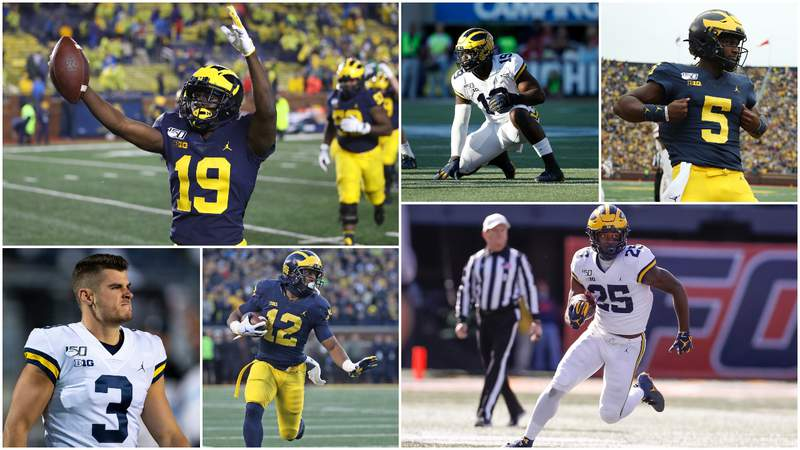 Candidates for Michigan's inaugural Most Valuable Jersey Number award in 2020 (Yes, Chris Evans wears No. 9 now).