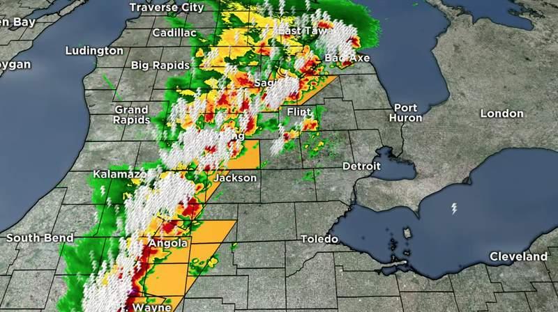 Michigan's weather radar on June 10, 2020.