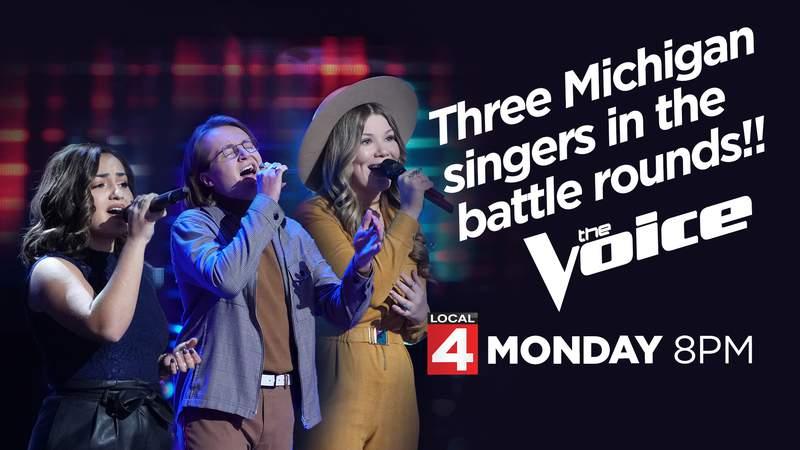 Three Michigan singers on The Voice
