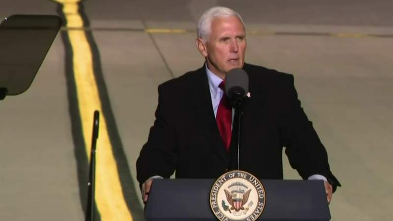 Vice President Pence campaigns in Flint Wednesday