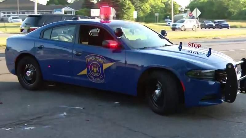 Michigan State Police vehicle.