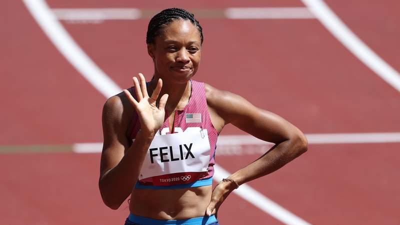 Allyson Felix at the 2020 Tokyo Olympics