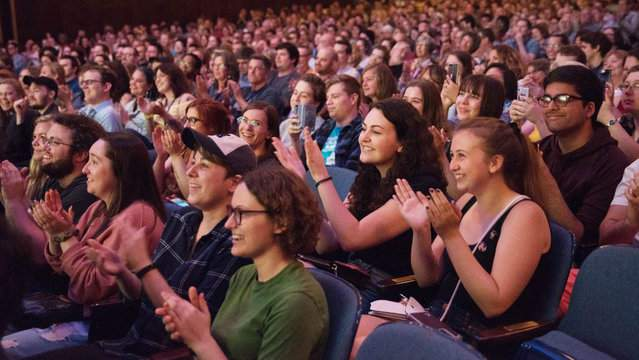 The audience claps after a screening at the Cinetopia Film Festival. (Credit: Cinetopia)