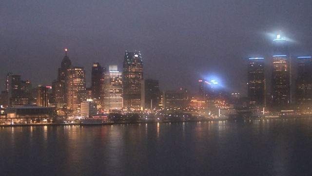 Detroit from the Windsor sky camera on Nov. 12, 2018 at 5:38 p.m.