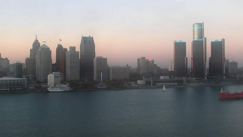 View of Detroit on Nov. 8, 2020 at 5:38 p.m.