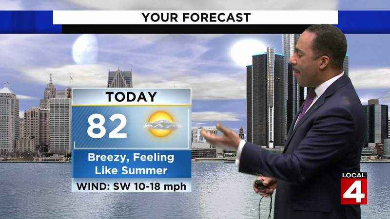 Metro Detroit weather: Highs expected to reach the low 80s Sunday
