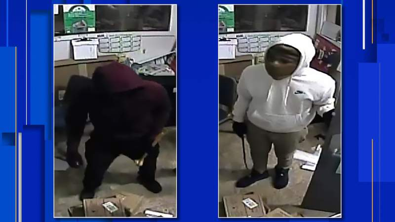 Police are looking for four men wanted in connection with a series of businesses broken into Jan. 6, 2020.