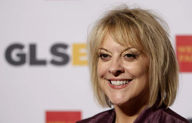 """FILE - In this Friday, Oct. 21, 2014, file photo, television host Nancy Grace arrives at the 7th annual GLSEN Respect Awards in Beverly Hills, Calif.  Grace will host a weekly program on the Fox Nation streaming service that is tied to the return of """"Americas Most Wanted."""" The long-running crime series returns to the Fox broadcasting network on Monday with Elizabeth Vargas as host. After each show, Grace's Americas Most Wanted Overtime' will include discussion of the case on Fox Nation. (AP Photo/Matt Sayles, File)"""