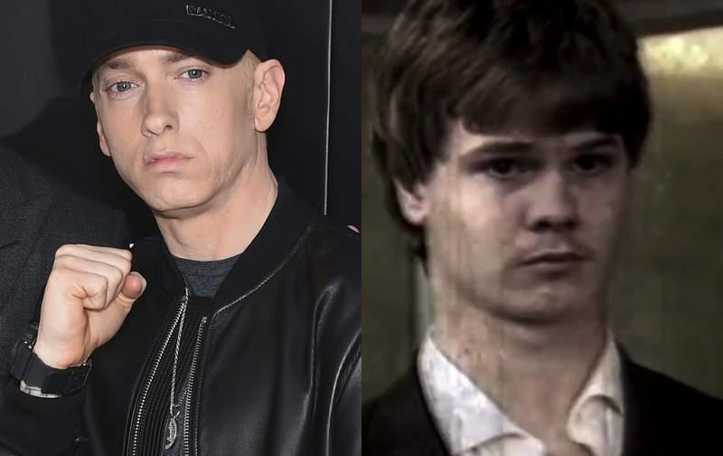 Eminem (left); Richard Wershe Jr. (right).