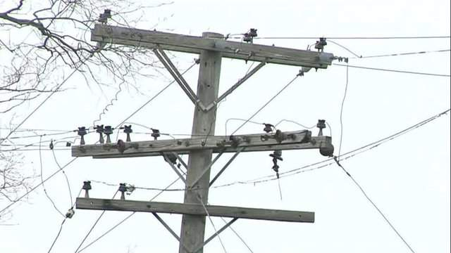 Strong winds are causing thousands of Metro Detroit residents to lose power. (WDIV)