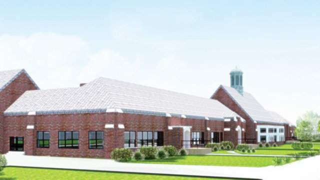 A rendering of the renovated Holcomb Elementary School building in Detroit. (Detroit Mayor's Office)