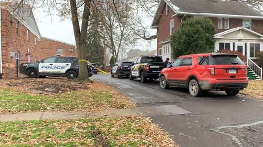 The scene where two Monroe police officers were shot Nov. 19, 2019.