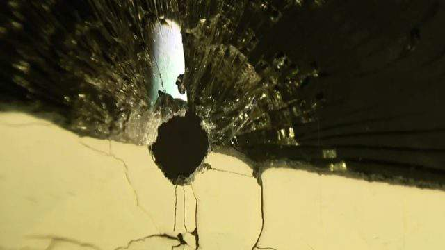 What appears to be a bullet hole in Eastpointe. (WDIV)