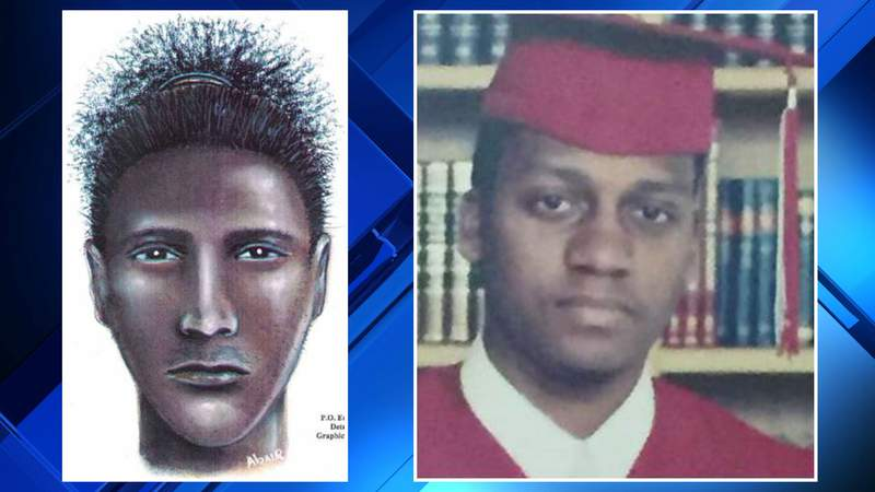 A sketch (left) of the suspected shooter who killed Gavin Early (right) on June 25, 2006.