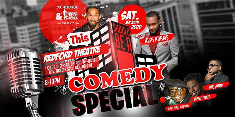 Redford Theatre in Detroit presents This Should Be A Comedy Special!