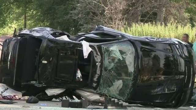 Two women were killed in a car crash on July 10, 2018 on Berg Road in Southfield. (WDIV)