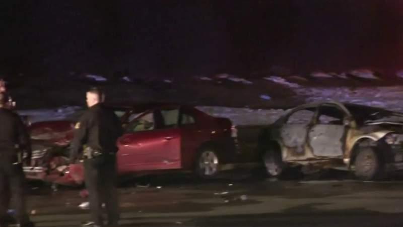 Woman killed in fiery crash in Westland